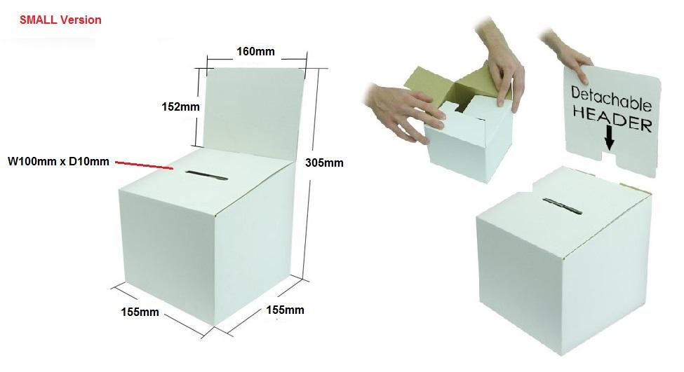 Cardboard Voting Box Small Freestanding Cardboard Boxes
