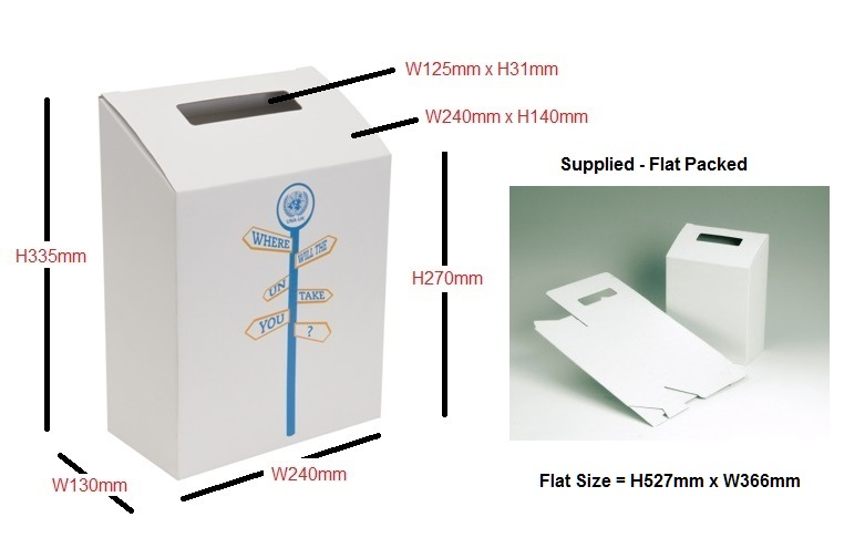 Cardboard Ballot Boxes - 10 to 100 Units