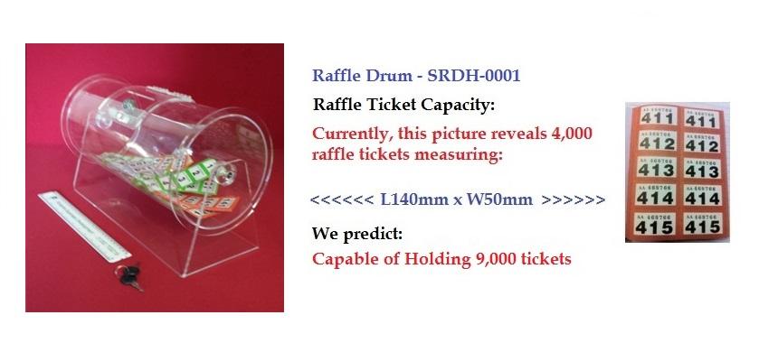 hire 9k ticket tombola drum