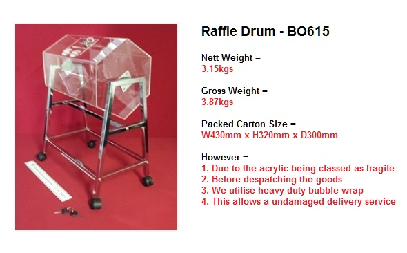 Exhibition Stand Measurements : Suggestion box tombola ballot drums raffle