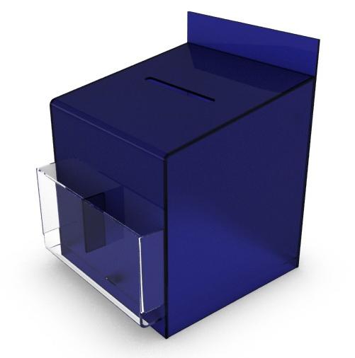 Suggestion Box Crystal Acrylic Blue Pockets